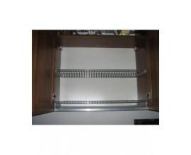 Scolapiatti griglie acciaio cromato completo di telaio in alluminio cm 90