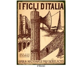I FIGLI D'ITALIA  TARGA IN LATTA ANTICHIZZATA