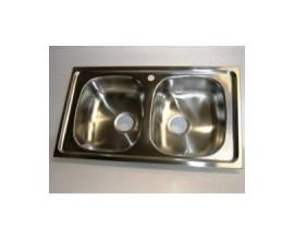 Lavello per cucina inox incasso 2 vasche pilettoni